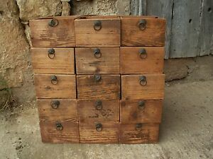 meuble m tier ancien tiroir usine cpa pin massif 1910 atelier garage industriel ebay