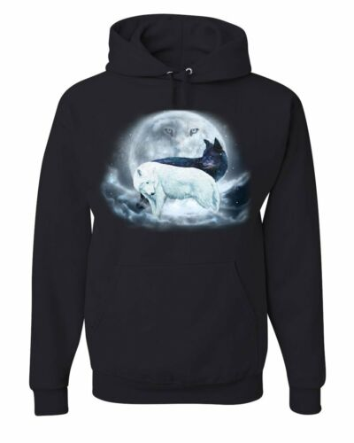 Animals Yin Pack Hoodie Wildlife Yang Nature Wolf Sweatshirt Moon amp; Wolves wfqZRxrIf