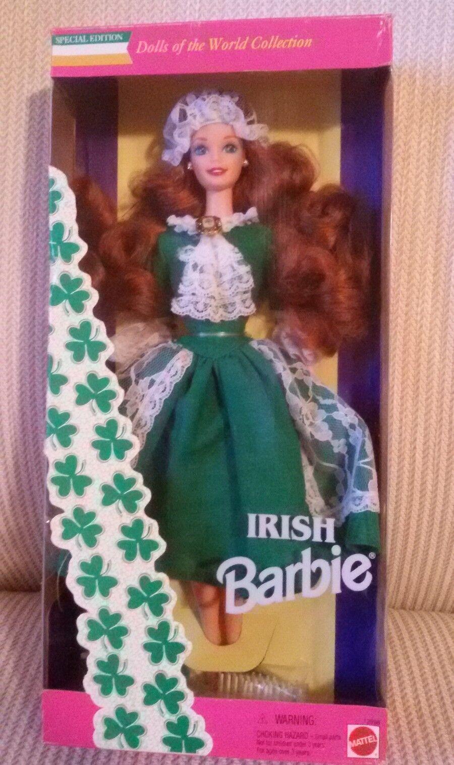 BARBIE  IRISH bambolaS  OF THE WORLD 1994 NRFB no silkstone  Ritorno di 10 giorni
