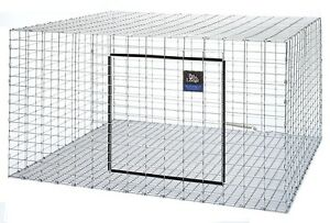 "ONE PET LODGE 30""X30"" WIRE RABBIT CAGE FOR MEAT OR PET BUNNY INDOOR OUTDOOR FARM"