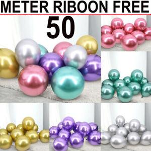 12-034-Chrome-ballons-d-039-helium-et-d-039-Air-Metallique-Ballon-Fete-Anniversaire-Mariage