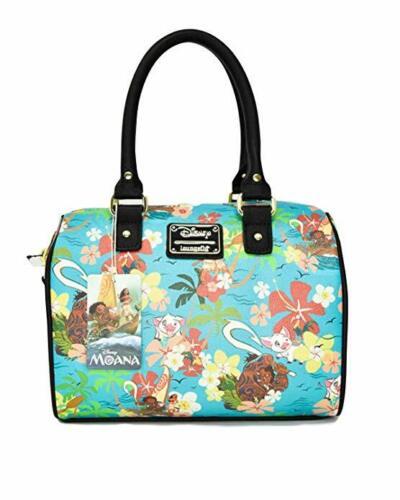 Loungefly Disney Moana Floral Flowers Duffel Tote Bag Purse Handbag WDTB1342