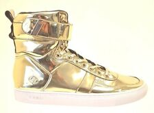 Radii VERTEX Men's Liquid Gold Leather HIGH TOP Fashion Sneakers Size 10.5