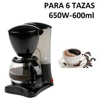 CAFETERA ELECTRICA DE GOTEO 650W 600ML PARA CAFES CAFETERIA CALENTADOR CALIENTE