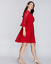 Lane-Bryant-Red-Lace-Dress-Fit-amp-Flare-Flounce-Sleeves-14-16-18-20-22-24-26-28 thumbnail 1