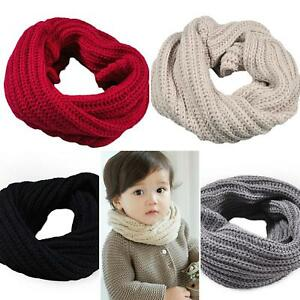 kids girls boy toddlers babies scarf SNOOD KNITTED woolly crochet ... 1d788e2f2dc