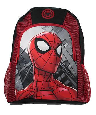 Amichevole Marvel Spiderman Grande Arco Nero & Rosso Bambini Zaino Scuola Borsa Zaino