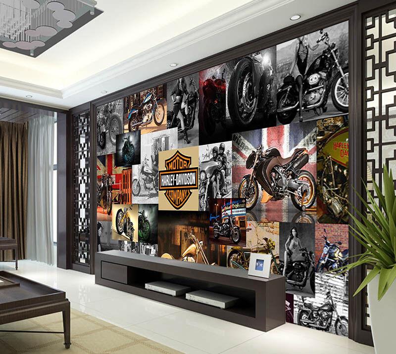 Dynamic Locomotive 3D Full Wall Mural Photo Wallpaper Printing Home Kids Decor