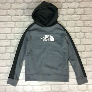 THE NORTH FACE BOYS GREY BLACK FABMIX OVERHEAD JUNIOR HOODIE RRP £55 K