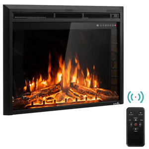 36-034-Electric-Fireplace-Insert-Freestanding-Stove-Heater-Touch-750W-1500W-Remote