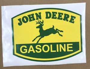 JOHN-DEERE-GASOLINE-DECAL-APPROXIMATELY-10-034-WIDE-Gas-amp-Oil