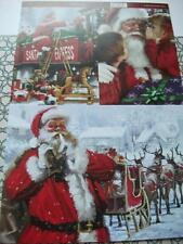 A4 Sheet of Card Toppers Santa & Sleigh Santa & Children Santa Train 3 pictures