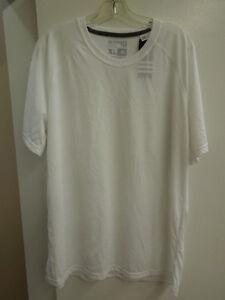 Adidas Mens Ultimate SS Dark Medium Heather Grey White Short Sleeve Shirt NEW!