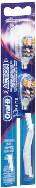 Oral-B Cross Action Power Replacement Brush Heads Whitening 2 Each