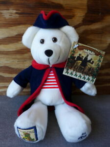 """NEW USPS Christmas at Valley Forge Stamp Beanie Bear Plush 9.25"""" 2004 Mint"""