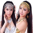 Women Belly Dance Accessories Costume Dancing Coin Sequins Hair Band Headbands