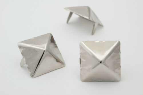 StudsAndSpikes Giant 1-inch silver pyramid studs for clothing Bag of 25