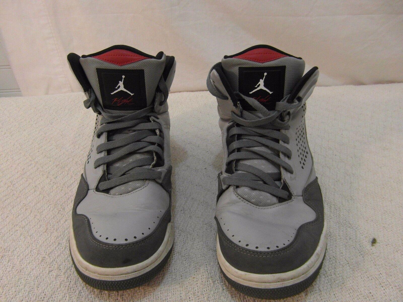 VERY RARE Men's Nike Air Jordan Flight Gray Shoes Black 10.5 Basketball Tennis Shoes Gray 278373