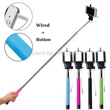Extendable All In One Selfie Stick With 3.5m Aux Cable For Iphone, Android
