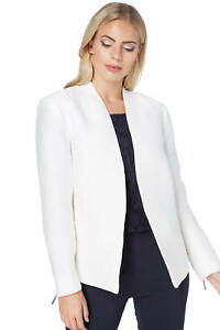Roman-Originals-Women-039-s-White-Pleat-Tailored-Jacket-Sizes-10-20