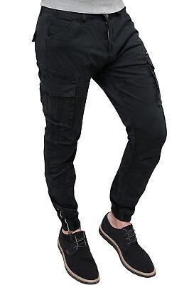 informazioni per le migliori scarpe negozio più venduto Pantaloni uomo Diamond Cargo nero slim fit in cotone con tasconi ...