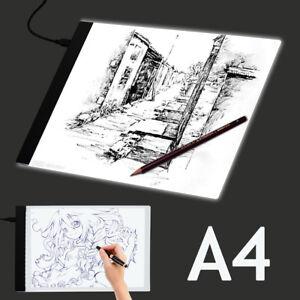 A4 Tablero dibujo LED que traza la caja luz Tattoo Arts Stencil UltraThin