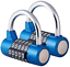 Surplex 2 Pack 5 Digit Combination Padlock Waterproof Antirust Combination for