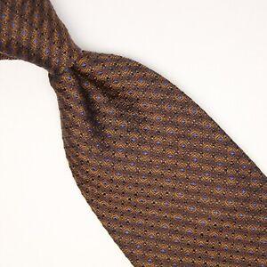 Diva-Mens-Silk-Necktie-Brown-Bronze-Blue-Check-Textured-Weave-Woven-Tie-Italy