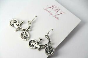 Scissors Charm Earrings Hairdresser .925 sterling silver hooks pewter Charms