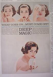 Fonce-Magique-Pretty-Woman-Drole-Visages-Vintage-Annonce-1958