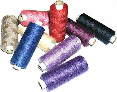POLY//COTTON TOP QUALITY 36/'S JEAN REPAIR THREAD 200MTR SPOOL VARIOUS COLOURS