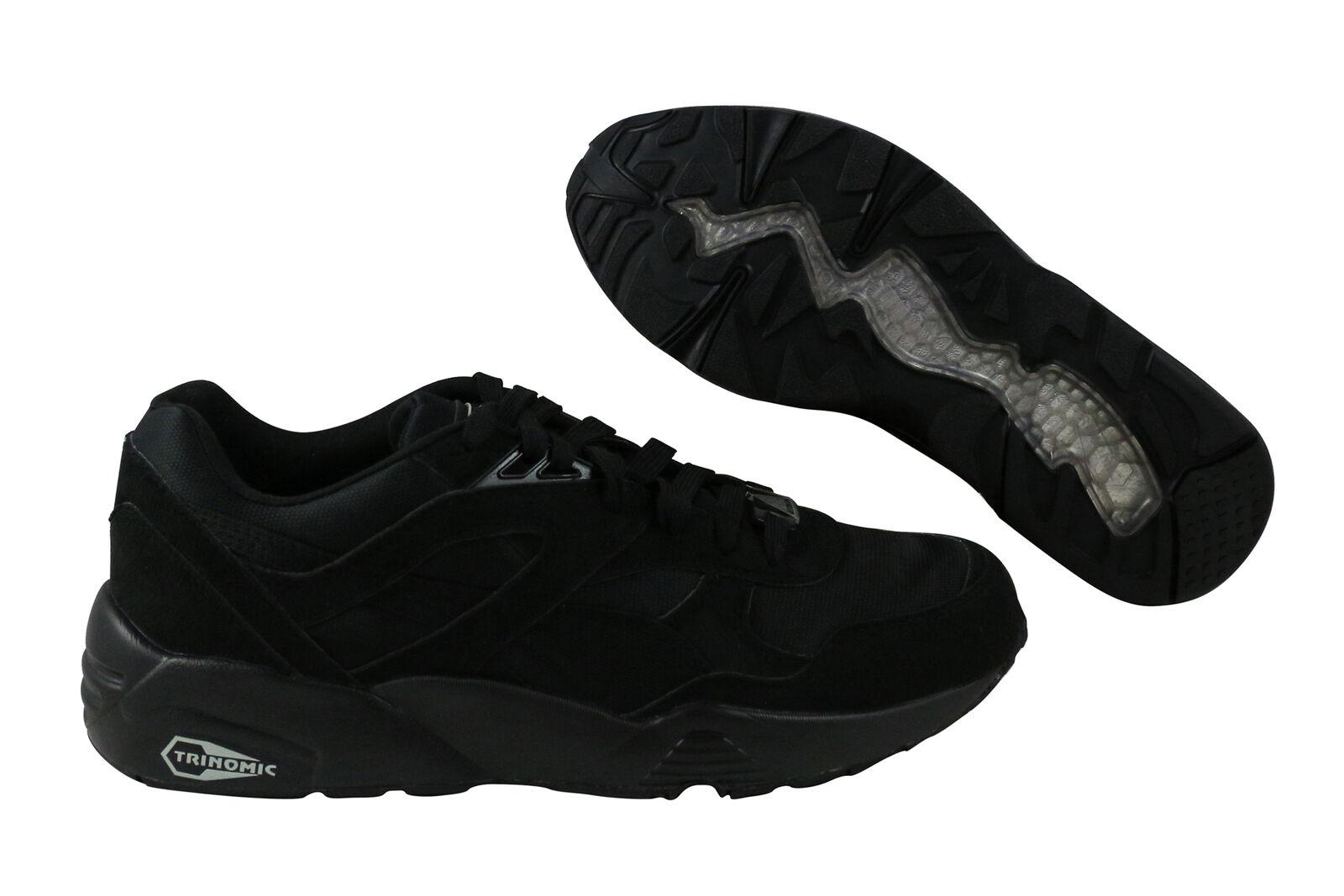 Puma R698 Trinomic black/drizzle Laufschuhe Schuhe schwarz