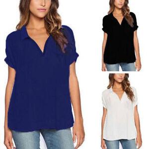 plus size damen v shirt tank tops sommer t shirt freizeit bluse shirts. Black Bedroom Furniture Sets. Home Design Ideas