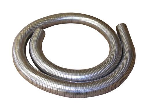 "76mm 3/"" Flexible Polylock Stainless Steel Flexi Tube 3//4 Metre Exhaust Universal"