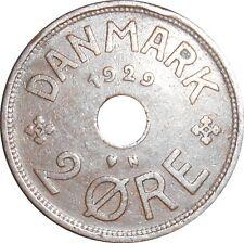 Denmark 2 Ore 1929 N♥GJ KM#827.2 - Christian X (D-15)