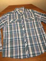 L.l.bean Men's Jackman Shirt Mens S Roll Snap Sleeves Textured Dobby Weave