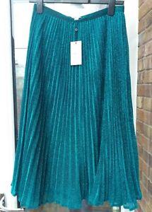best choice new design nice cheap BNWT Whistles Green Sparkle Pleated Midi Skirt UK8 10 12 rrp£139 ...