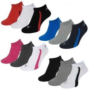 6-Paar-Puma-Sneaker-Socken-Gr-35-46-Unisex-fuer-Damen-Herren-Fuesslinge