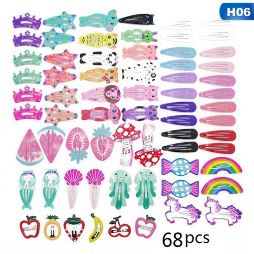 60pcs Baby Kids Girl Fruit Hair Clips Small Mini Snap Hair Clip Hairpin Barrette