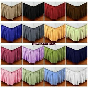 christmas sale extra drop queen size dust ruffle bed skirt striped egypt cotton ebay. Black Bedroom Furniture Sets. Home Design Ideas
