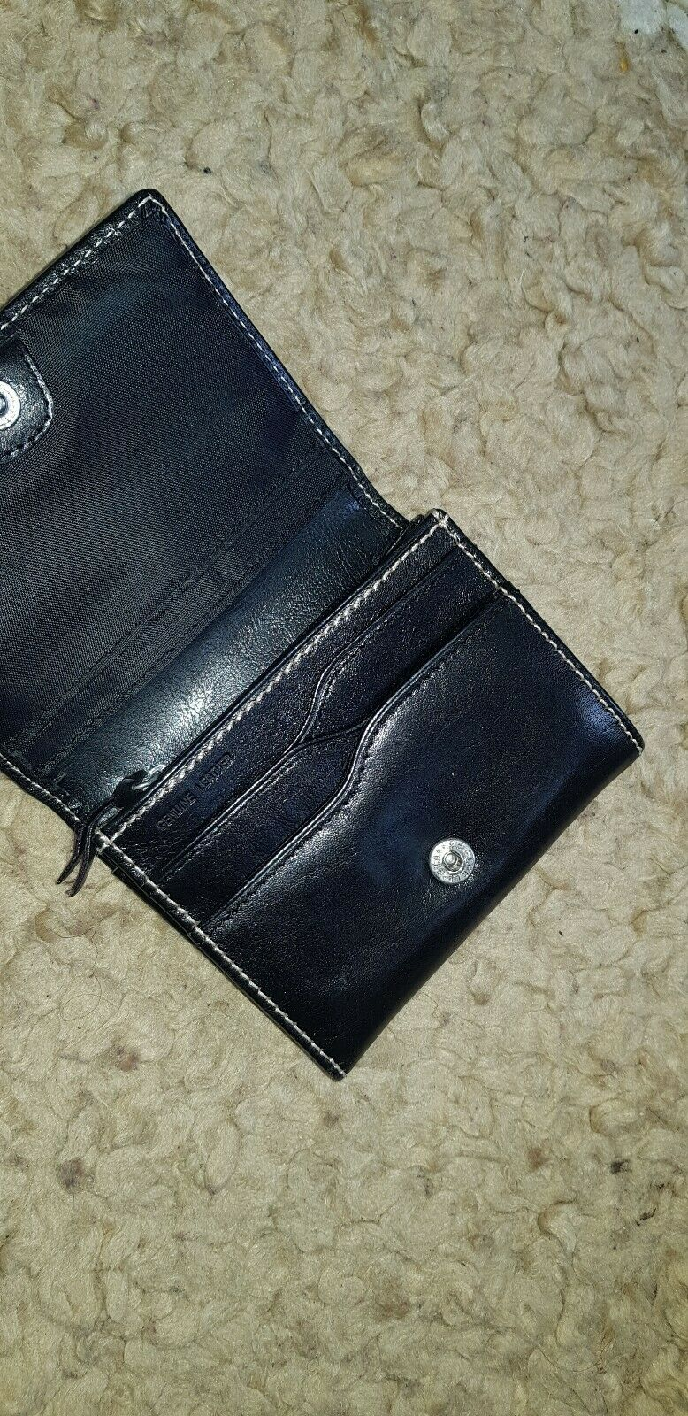 Leather Card &Coin Holder 4.6inches x4 NEW