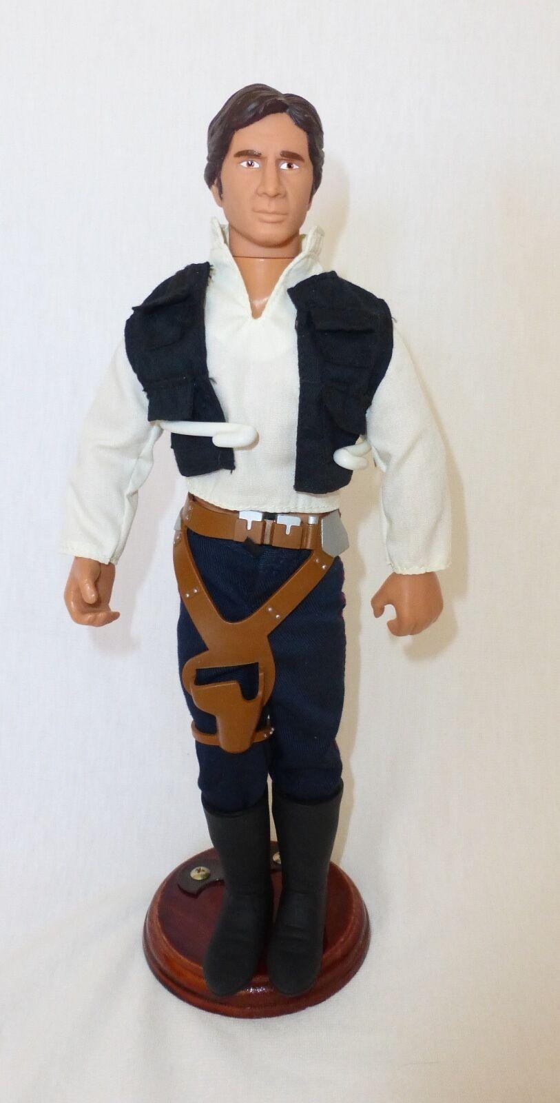 Vintage STAR WARS Han Solo 12    Action Figure 1992 Hasbro With Gun Belt MINT  cf05bd