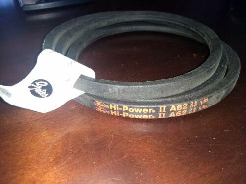 """3X624 V-Belt 1//2 x 64/"""" Free Shipping Gates A62 Hi-Power II Belt"""