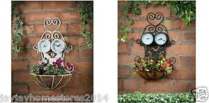 3 En 1 Planteuse Avec Thermomètre Et Horloge Décoration De Jardin - 38cm (h)-afficher Le Titre D'origine Couleurs Fantaisie