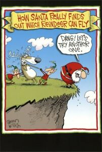 Humorous Christmas Cards.Details About Nobleworks Reindeer Can Fly Box Of 12 Funny Humorous Christmas Cards