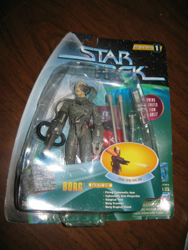 Star Trek Playmates Warp Factor Series 1 Borg Figure toy 1997 Galactic Gear 1997 toy part 5e8286