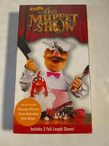 Best-of-The-Muppet-Show-VHS-Time-Life-Video-3-Episodes-Burns-Hope-Deluise