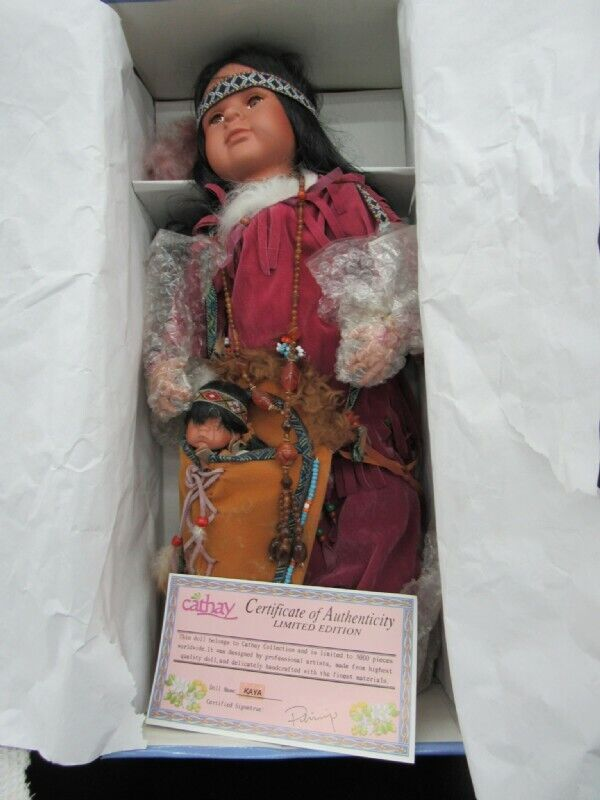 Cathay Collection Native American Indian Porcelain Doll 21