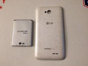 finest selection 037c2 ed53d Details about OEM LG BL-52UH L70 OPTIMUS MS323 MetroPCS Battery & Back  Cover Door White severe