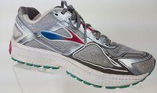 27a630be16b Brooks Womens Ghost 8 Running Shoes Metallic Grey Bright Rose Bluebird Size  8.5B